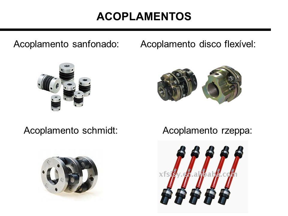 ACOPLAMENTOS Acoplamento sanfonado: Acoplamento disco flexível: