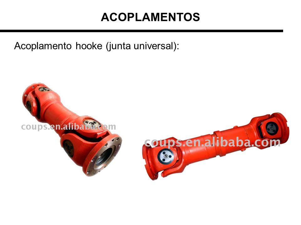 ACOPLAMENTOS Acoplamento hooke (junta universal):