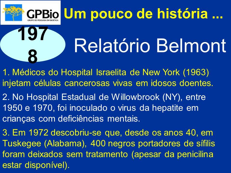 1978 Relatório Belmont Um pouco de história ...