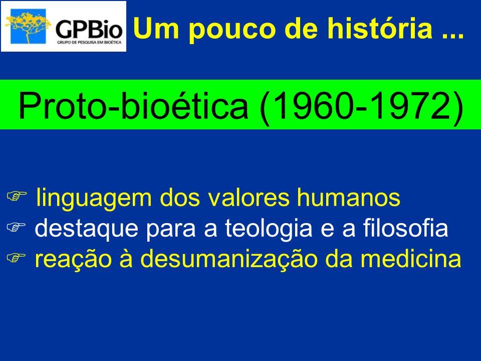 Proto-bioética (1960-1972) Um pouco de história ...