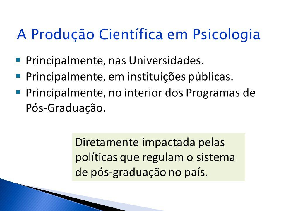 A Produção Científica em Psicologia