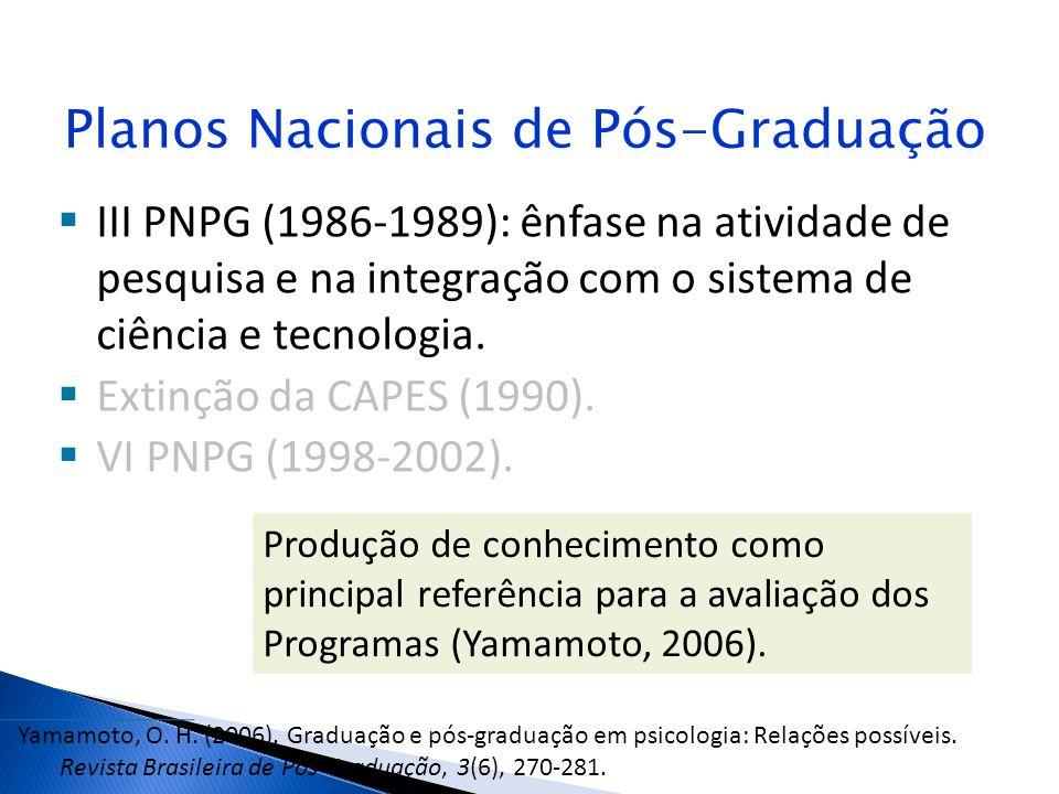 Planos Nacionais de Pós-Graduação