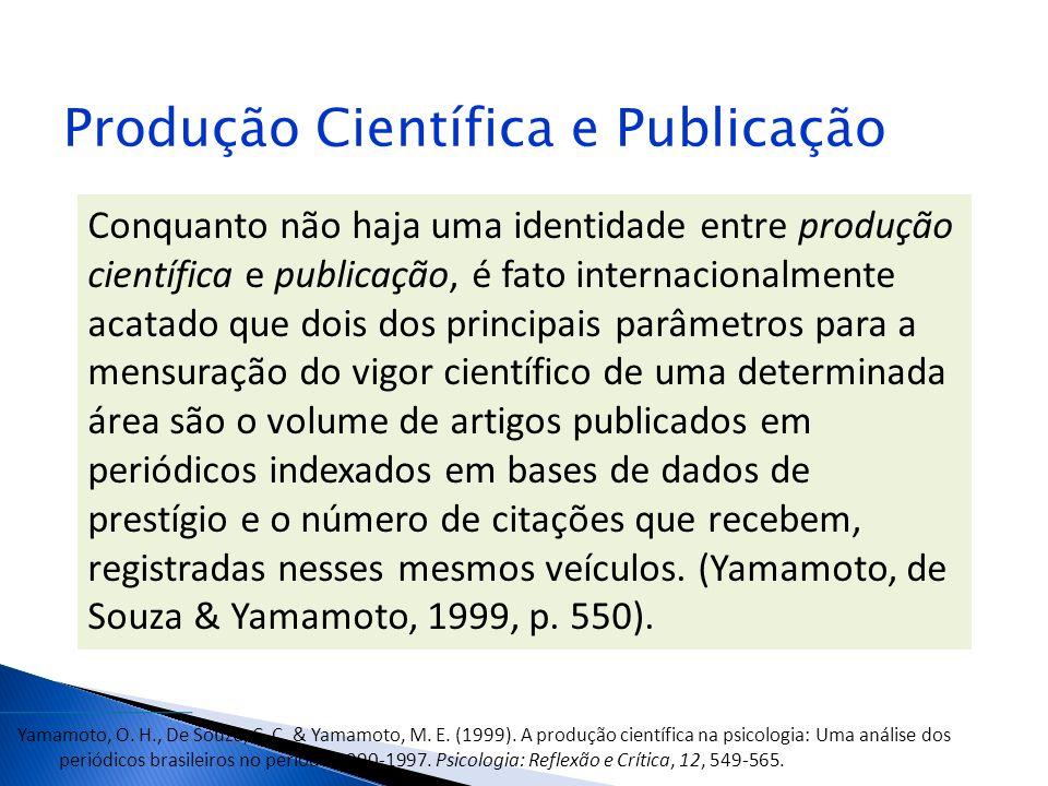 Produção Científica e Publicação