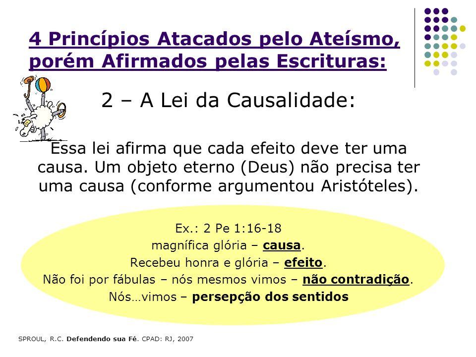 4 Princípios Atacados pelo Ateísmo, porém Afirmados pelas Escrituras: