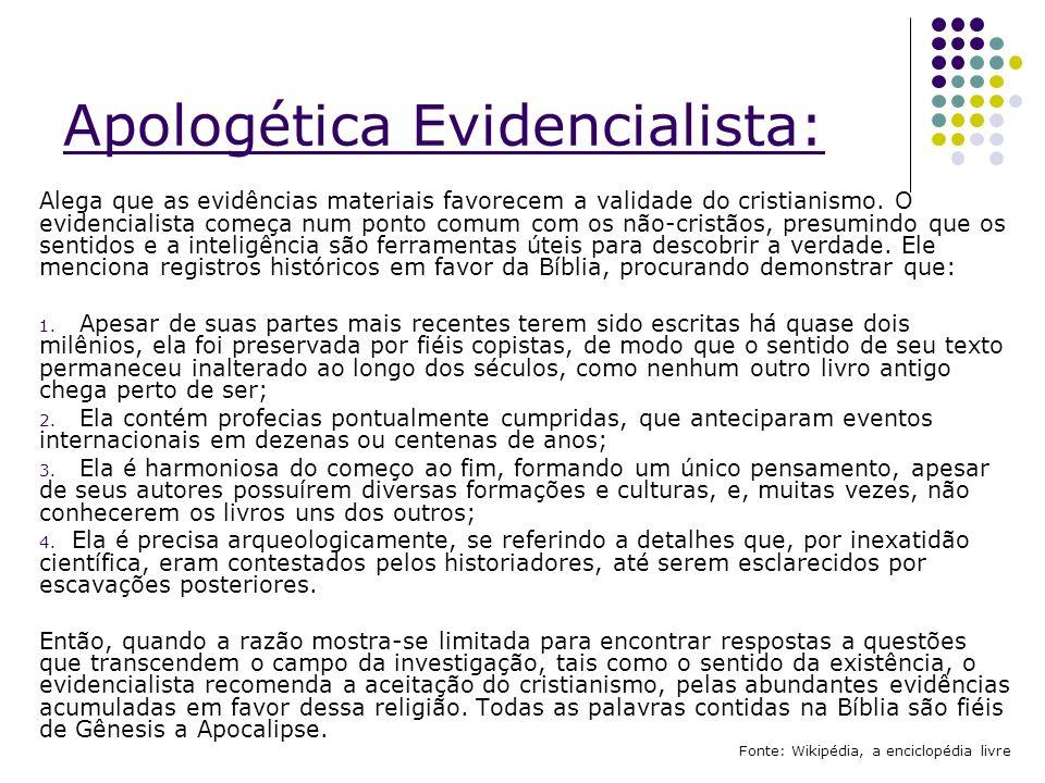 Apologética Evidencialista: