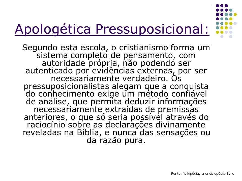 Apologética Pressuposicional: