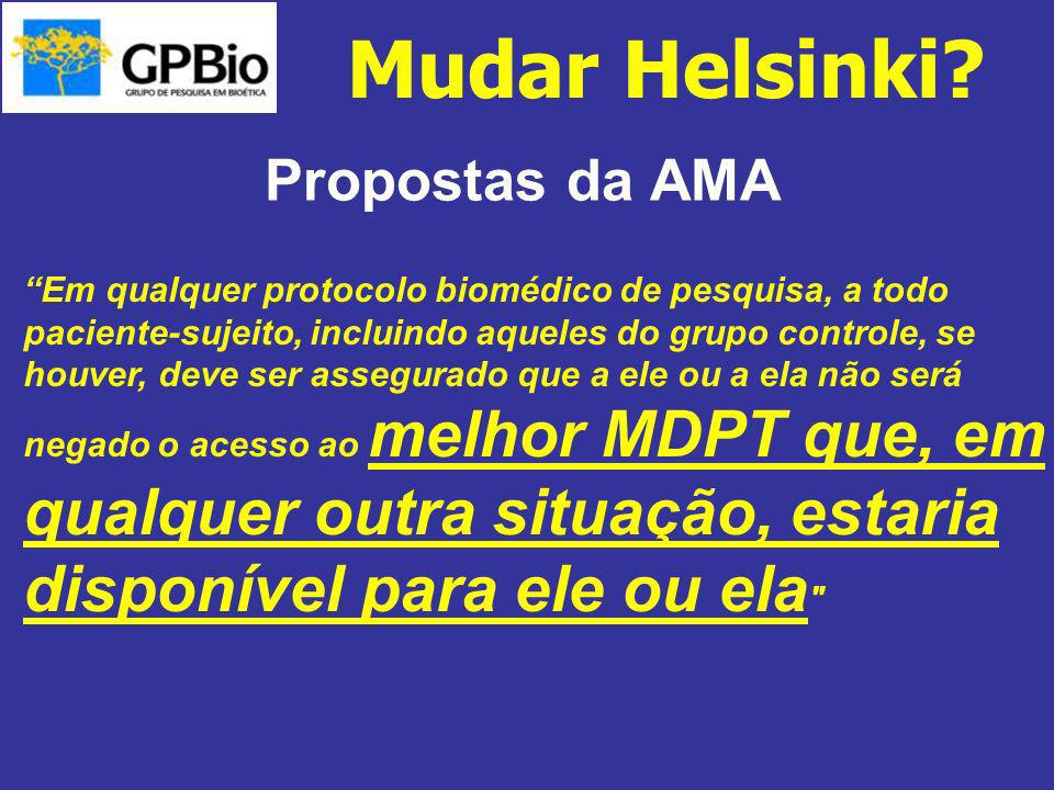 Mudar Helsinki Propostas da AMA