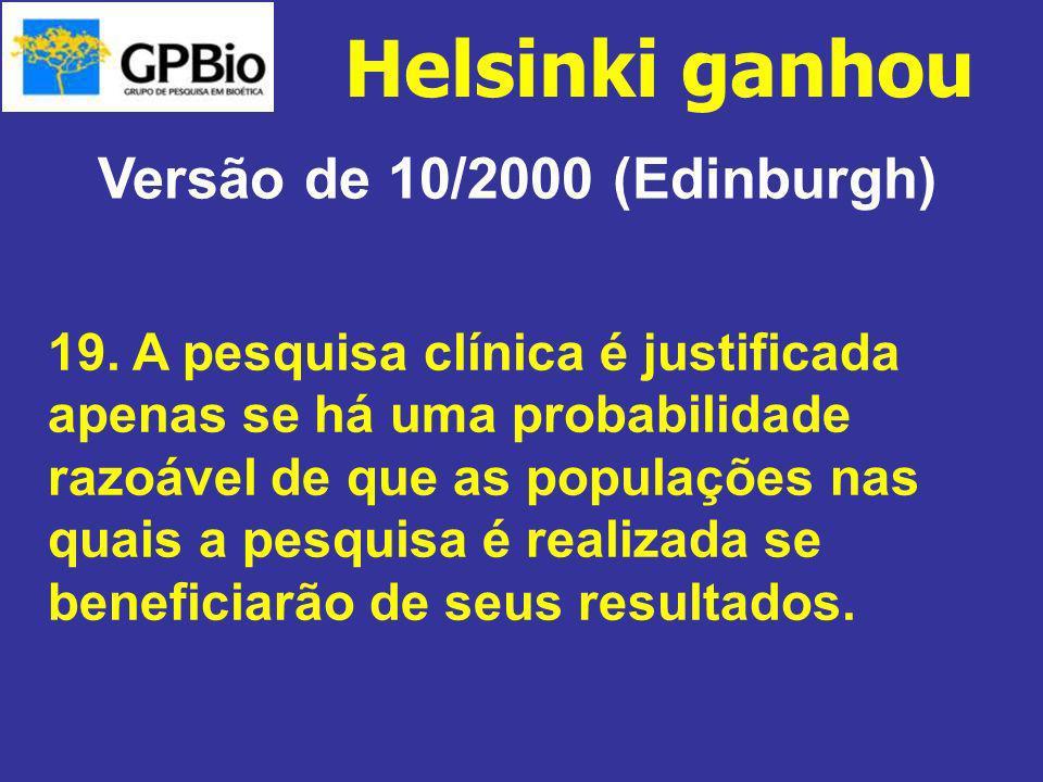Versão de 10/2000 (Edinburgh)