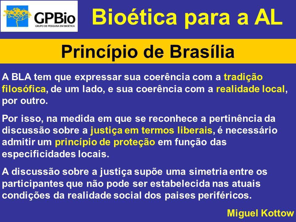 Bioética para a AL Princípio de Brasília