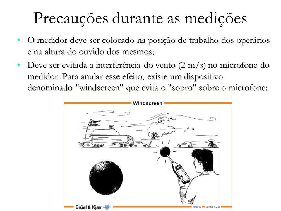 Precauções durante as medições