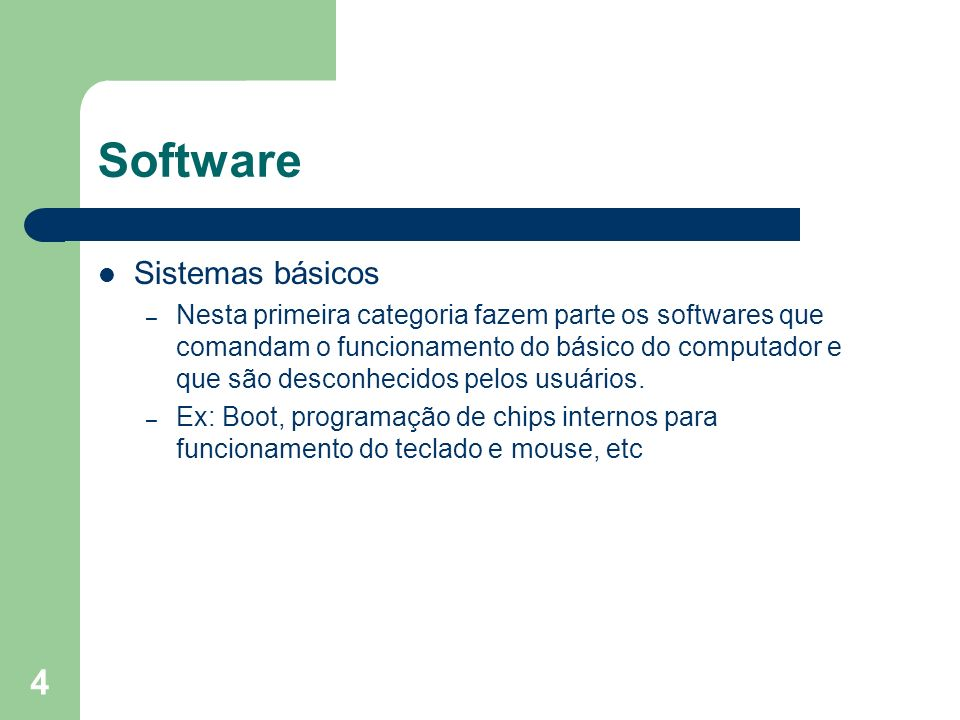 Software Sistemas básicos