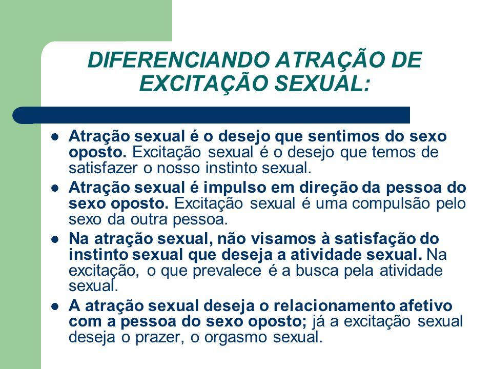 DIFERENCIANDO ATRAÇÃO DE EXCITAÇÃO SEXUAL: