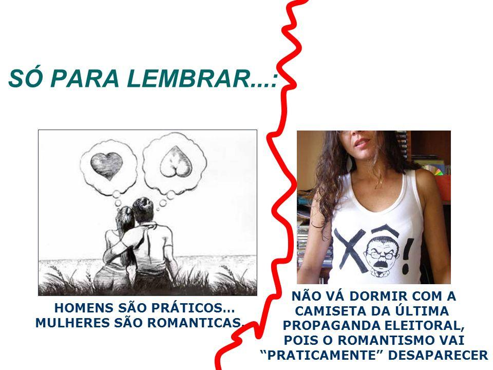 PRATICAMENTE DESAPARECER MULHERES SÃO ROMANTICAS…