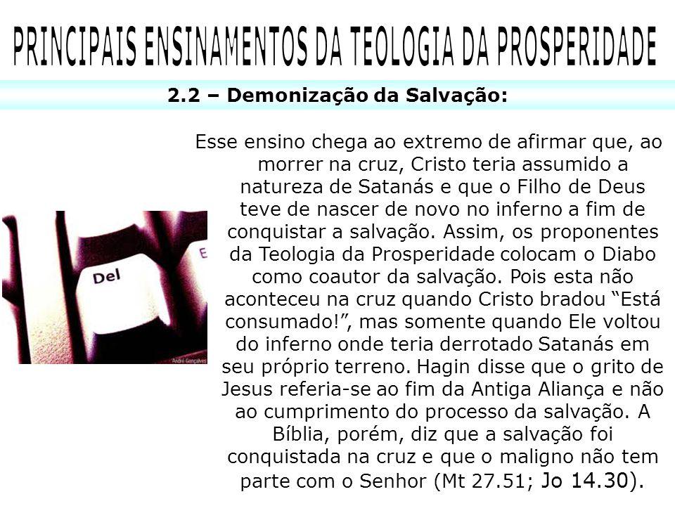 PRINCIPAIS ENSINAMENTOS DA TEOLOGIA DA PROSPERIDADE