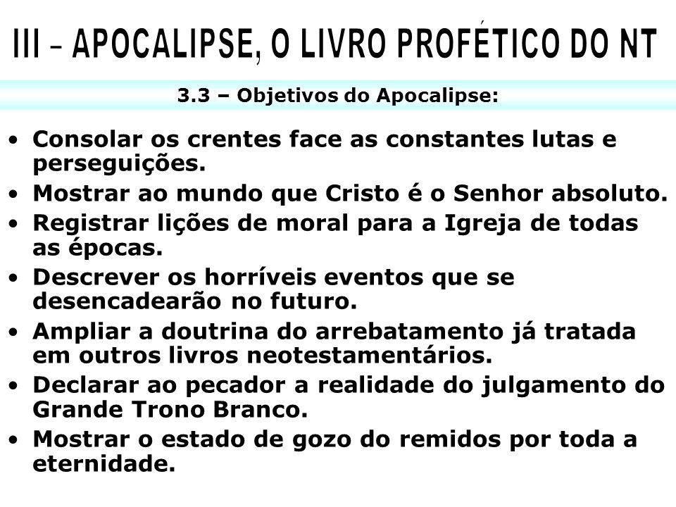III – APOCALIPSE, O LIVRO PROFÉTICO DO NT