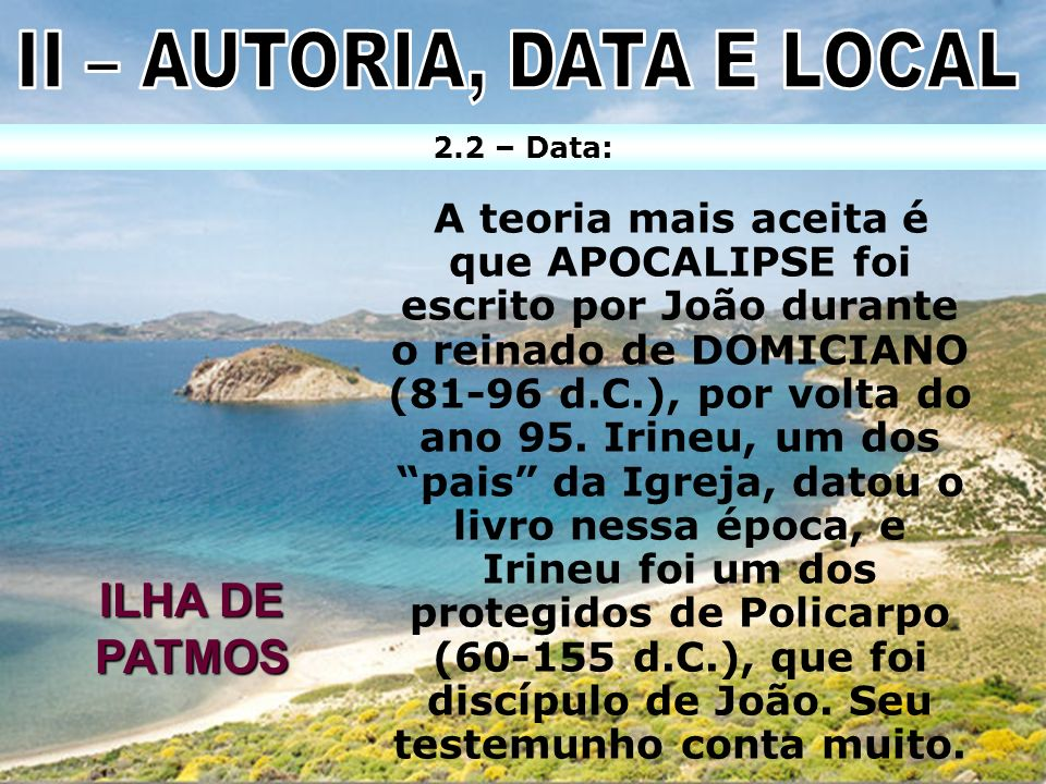 II – AUTORIA, DATA E LOCAL
