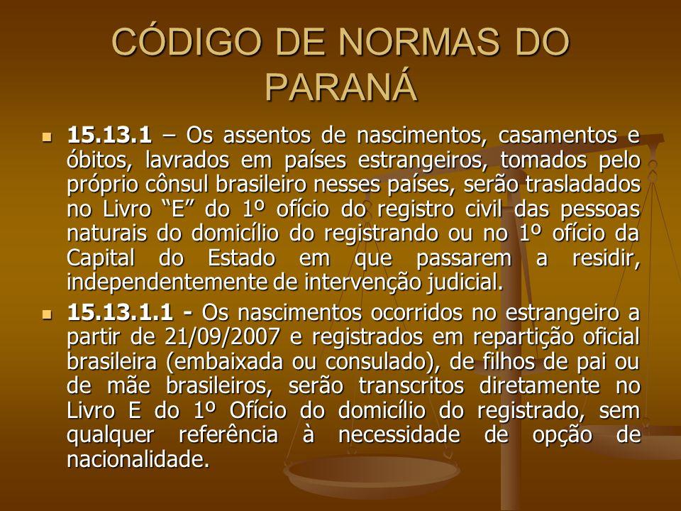 CÓDIGO DE NORMAS DO PARANÁ
