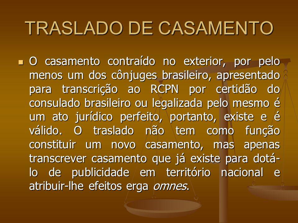 TRASLADO DE CASAMENTO