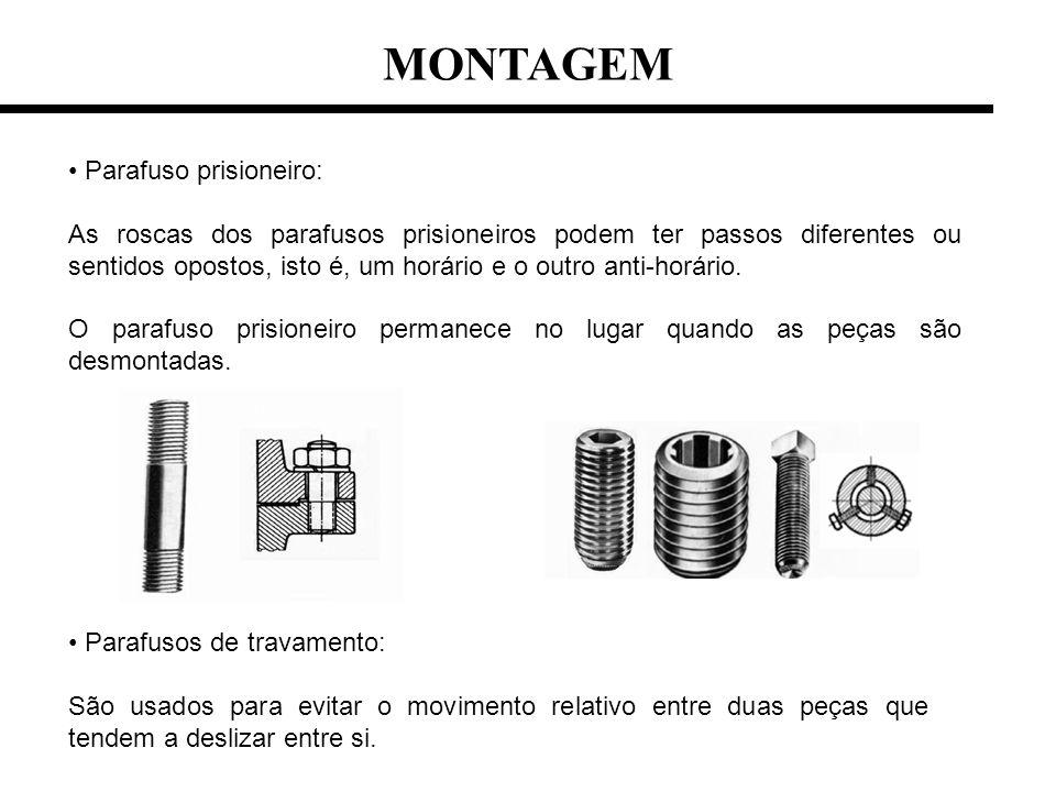 MONTAGEM Parafuso prisioneiro:
