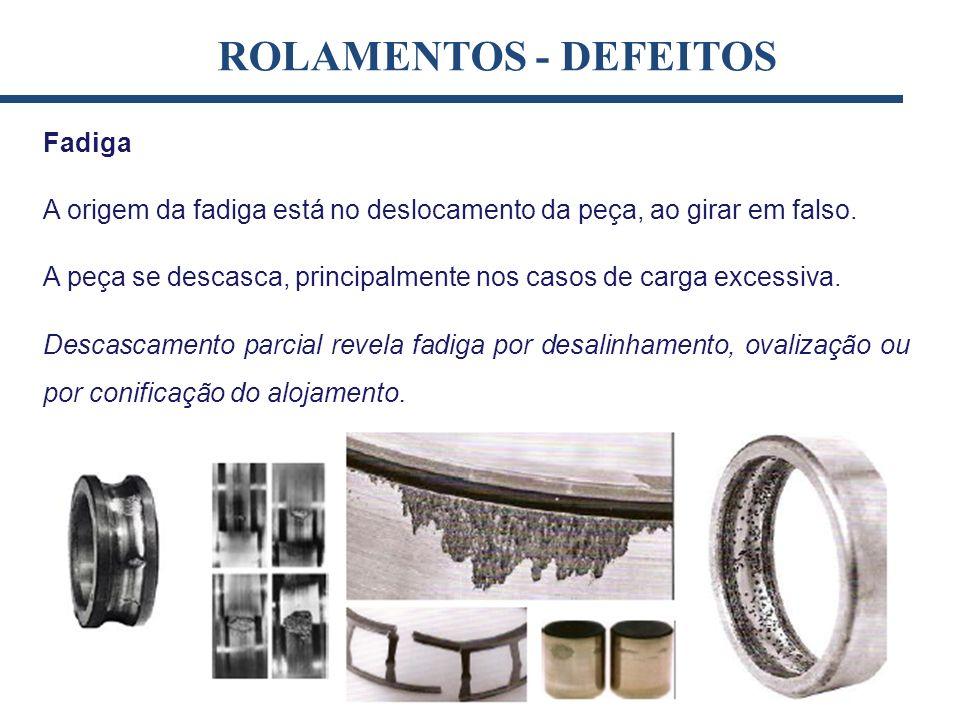 ROLAMENTOS - DEFEITOS Fadiga