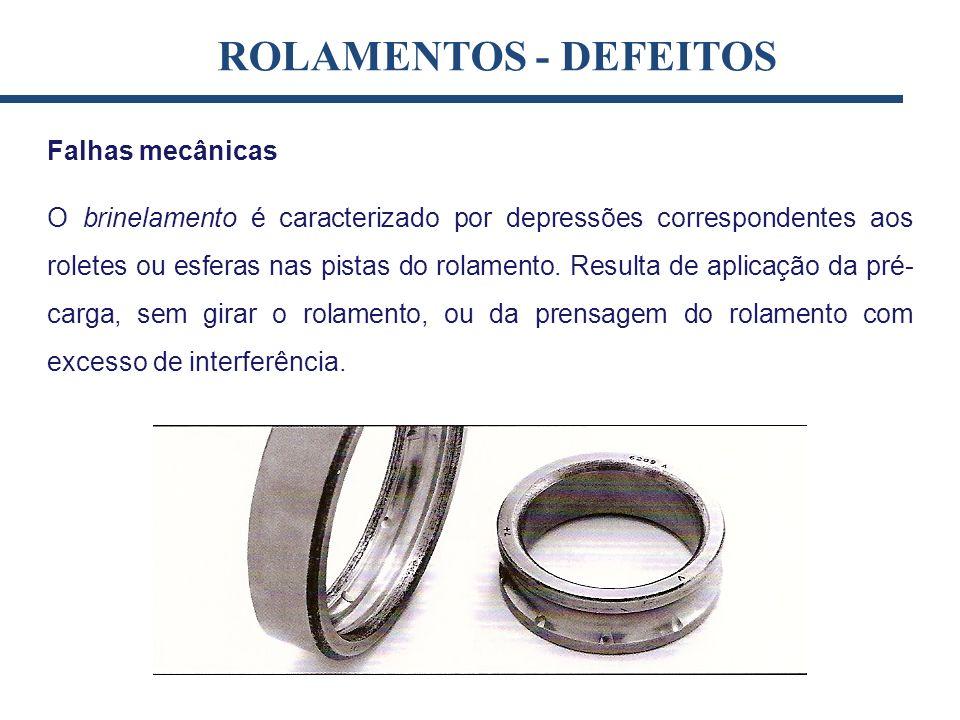 ROLAMENTOS - DEFEITOS Falhas mecânicas