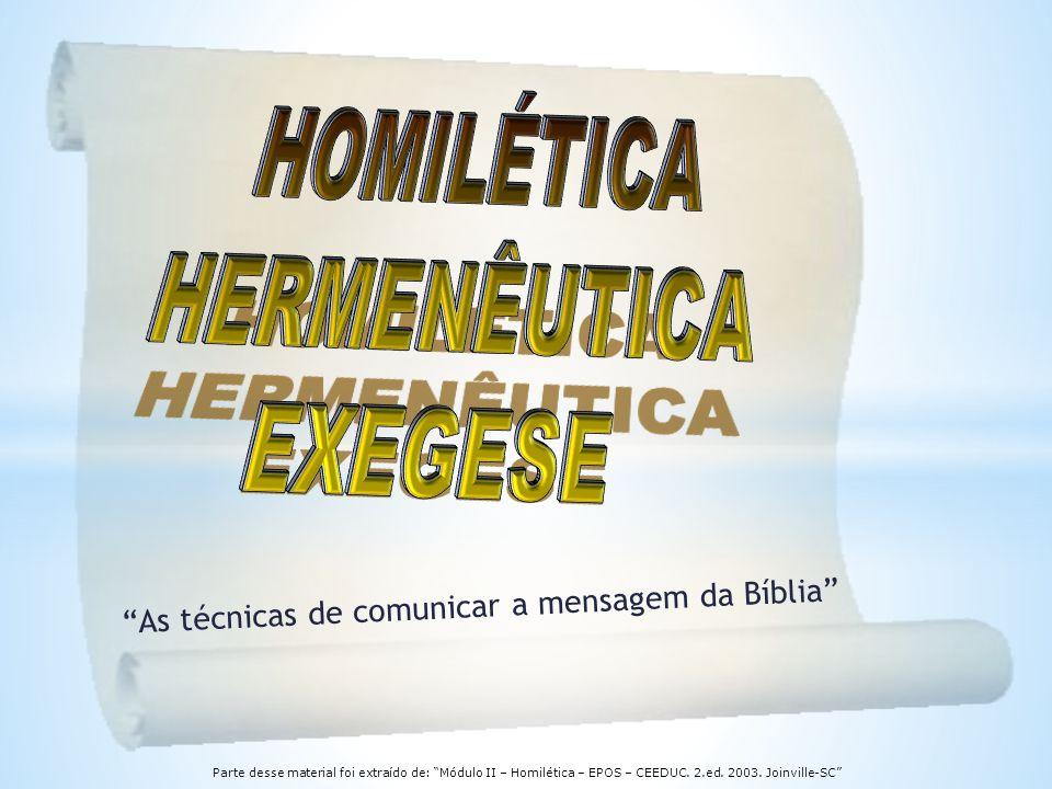 As técnicas de comunicar a mensagem da Bíblia
