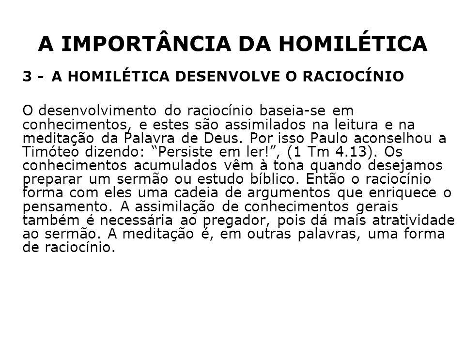 A IMPORTÂNCIA DA HOMILÉTICA