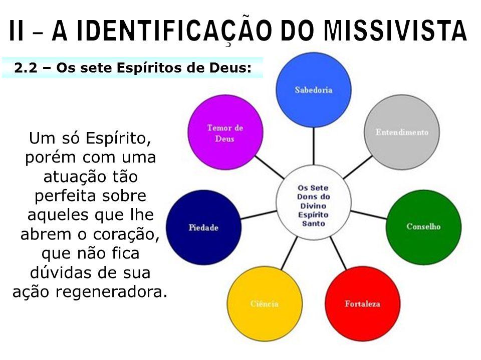 II – A IDENTIFICAÇÃO DO MISSIVISTA 2.2 – Os sete Espíritos de Deus: