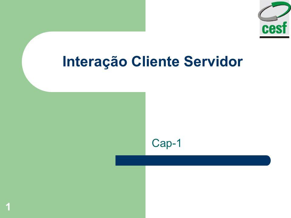 Interação Cliente Servidor