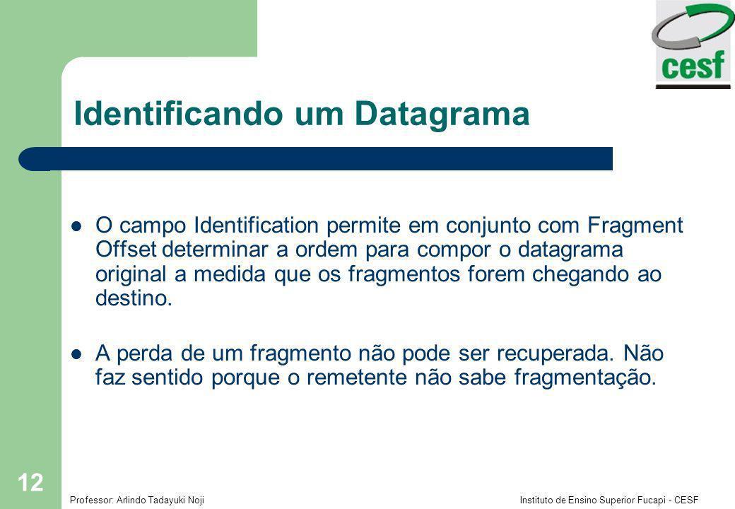 Identificando um Datagrama