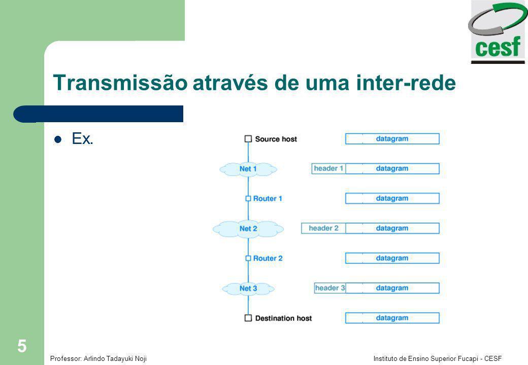 Transmissão através de uma inter-rede