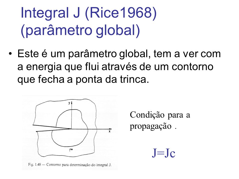 Integral J (Rice1968) (parâmetro global)