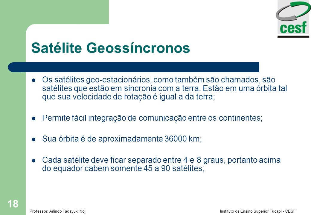 Satélite Geossíncronos
