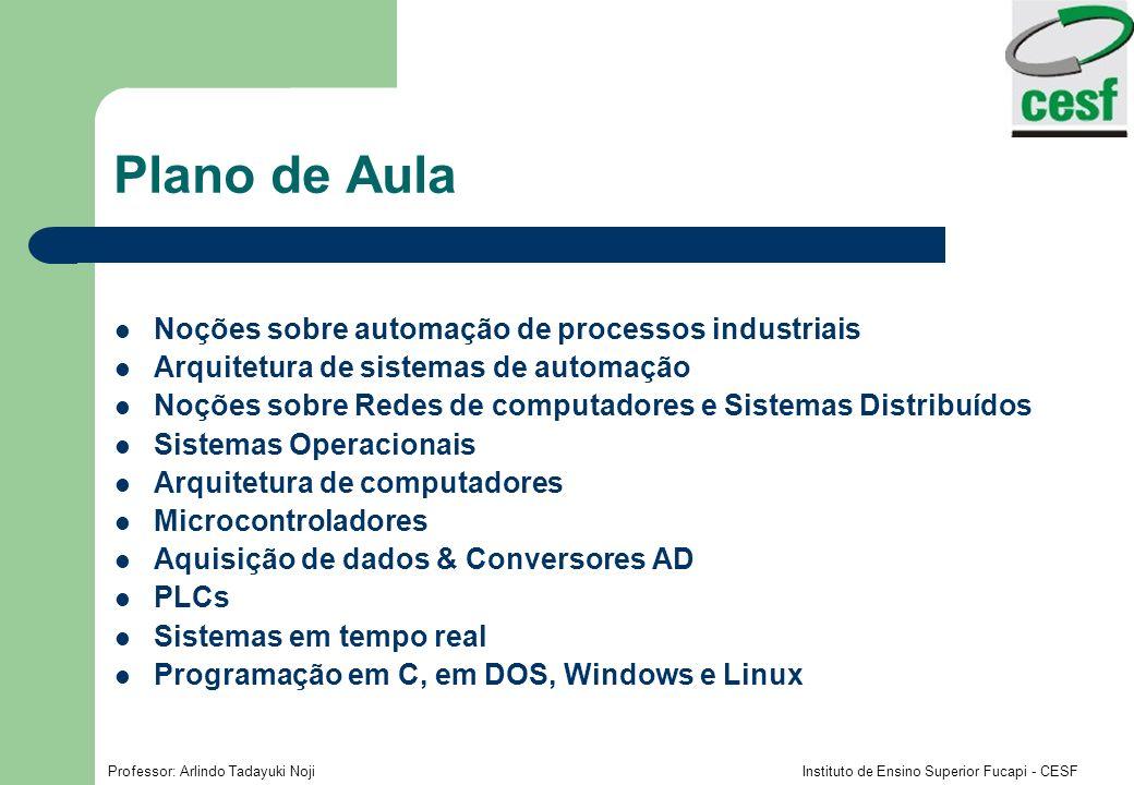 Plano de Aula Noções sobre automação de processos industriais