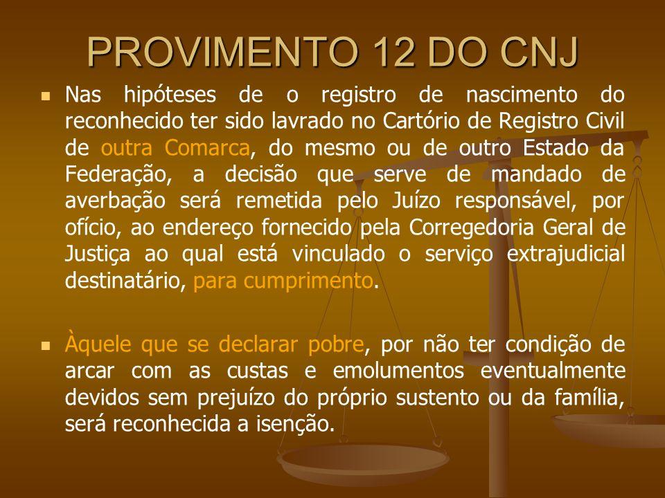 PROVIMENTO 12 DO CNJ