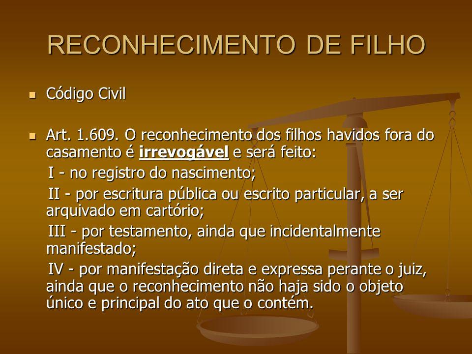 RECONHECIMENTO DE FILHO