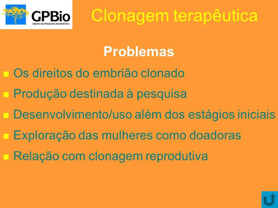 Clonagem terapêutica Problemas Os direitos do embrião clonado