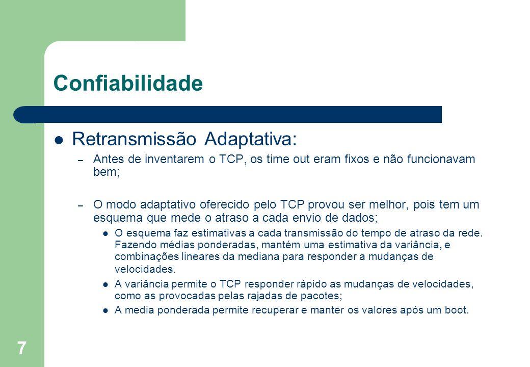 Confiabilidade Retransmissão Adaptativa: