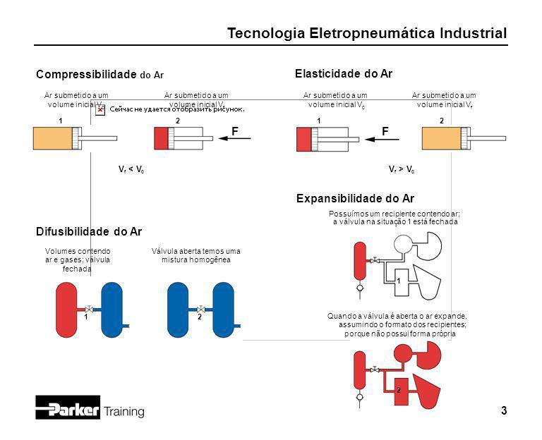 F F Compressibilidade do Ar Elasticidade do Ar Expansibilidade do Ar