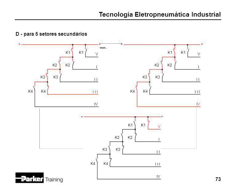 D - para 5 setores secundários