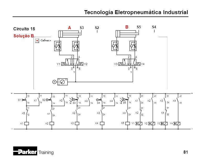 B Circuito 15 A Solução B S3 S2 S5 S4 2 4 2 4 Y1 Y2 Y3 Y4 3 5 3 5 1 1