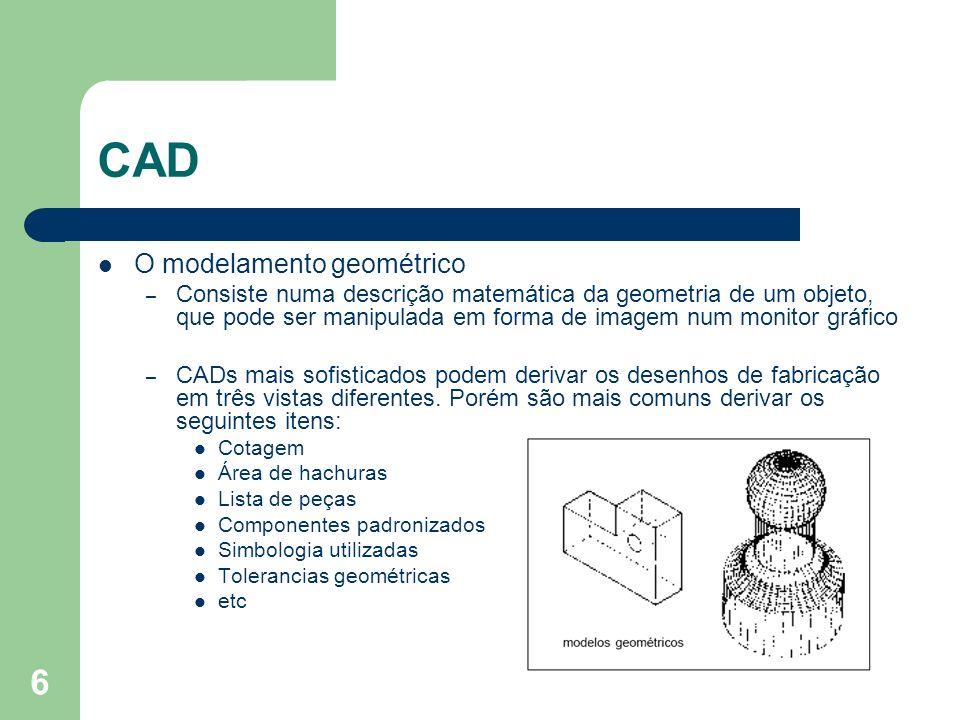 CAD O modelamento geométrico
