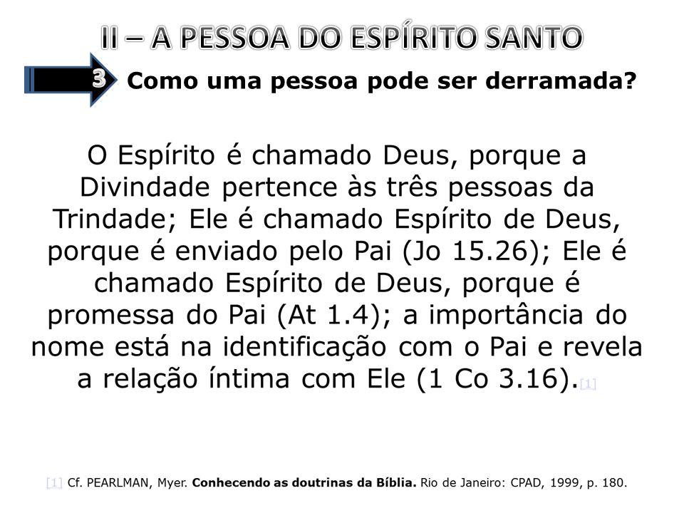 II – A PESSOA DO ESPÍRITO SANTO
