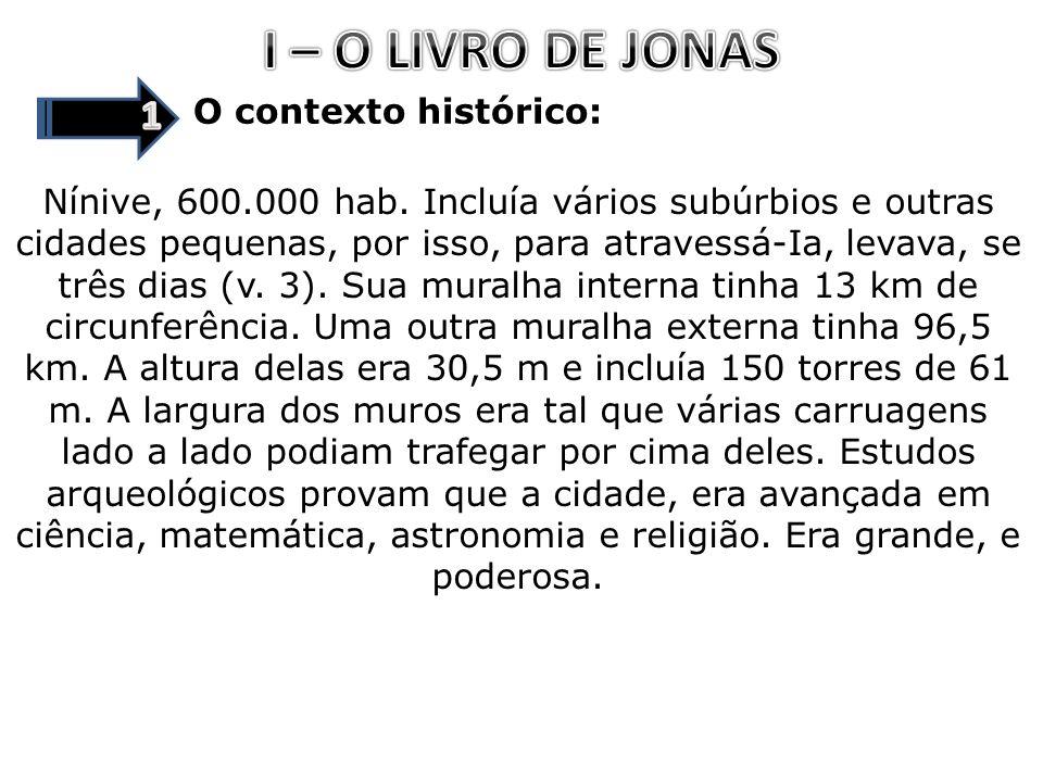 I – O LIVRO DE JONAS 1 O contexto histórico: