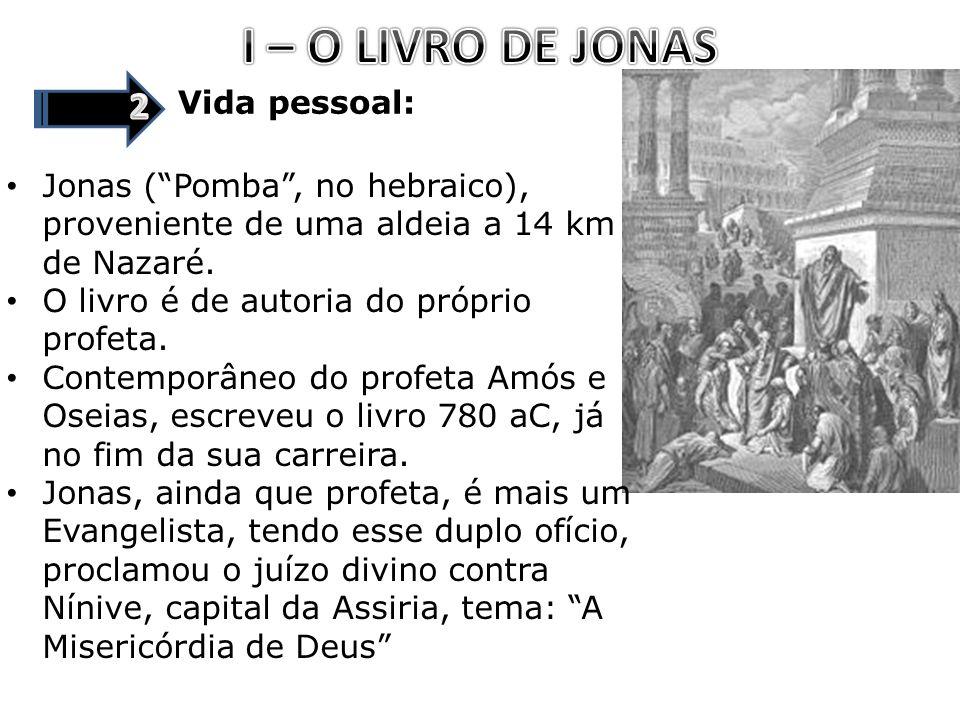 I – O LIVRO DE JONAS 2 Vida pessoal: