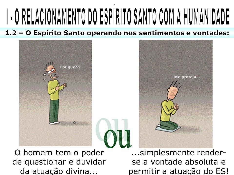 I - O RELACIONAMENTO DO ESPÍRITO SANTO COM A HUMANIDADE