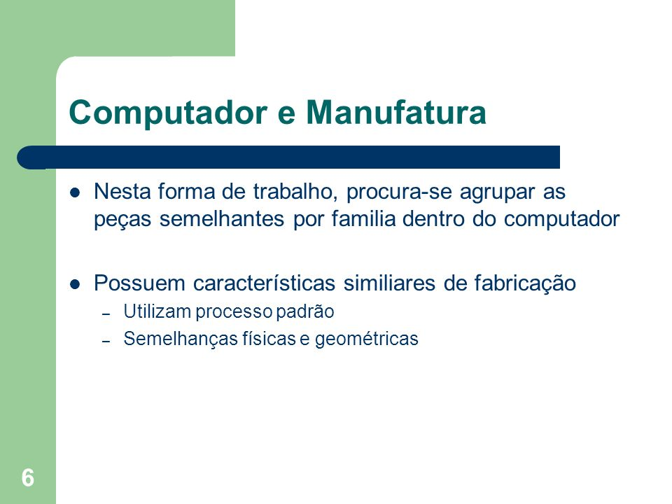 Computador e Manufatura