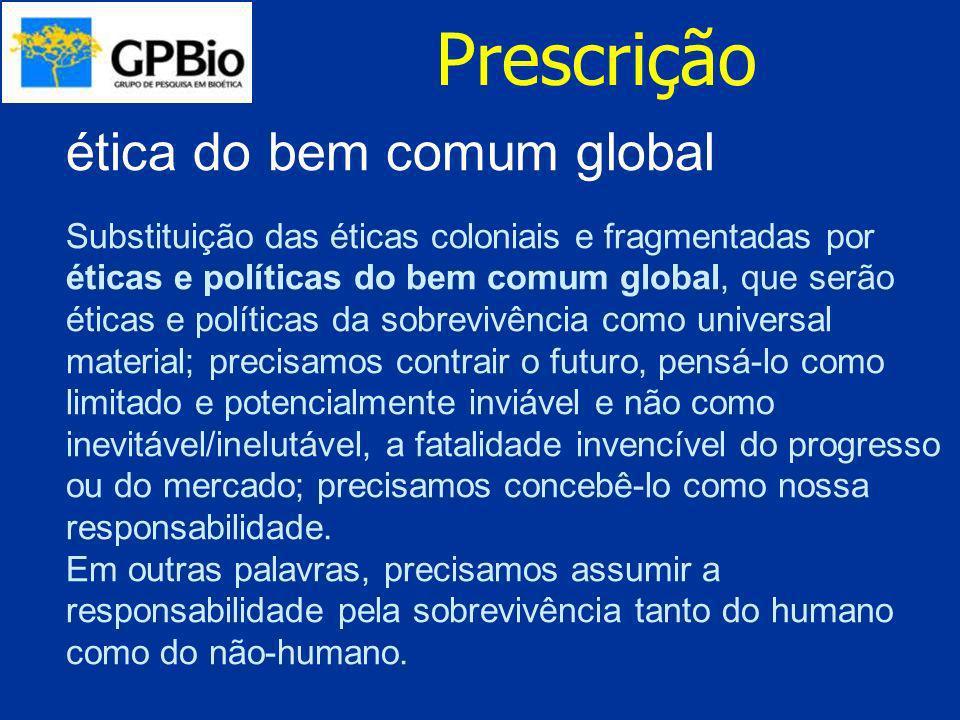 Prescrição ética do bem comum global