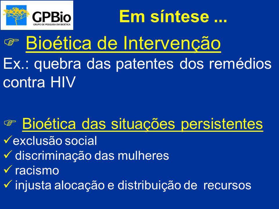  Bioética de Intervenção
