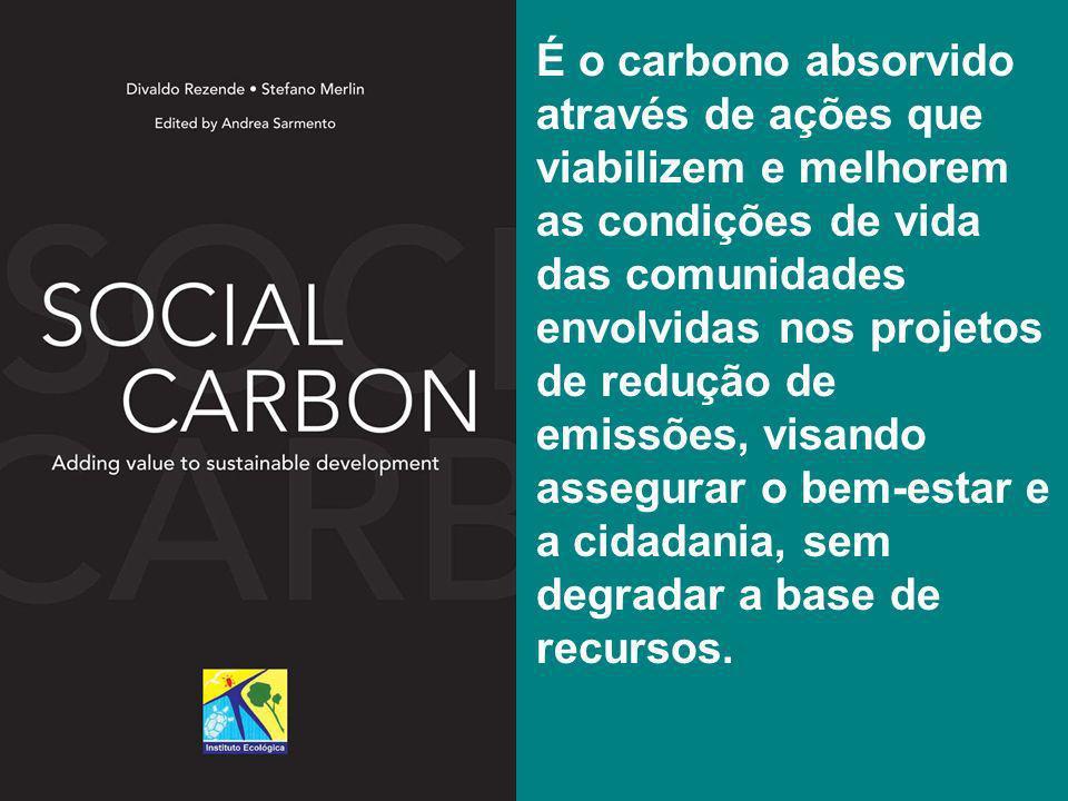É o carbono absorvido através de ações que viabilizem e melhorem as condições de vida das comunidades envolvidas nos projetos de redução de emissões, visando assegurar o bem-estar e a cidadania, sem degradar a base de recursos.